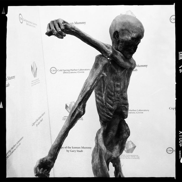 Copy of the Iceman Mummy Hipstamatic Blackandwhite ICEMAN  ötzi