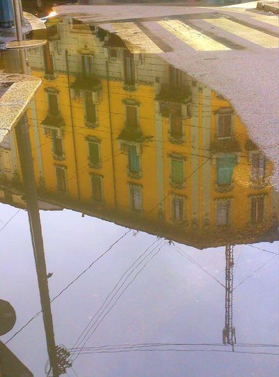Watching Buildings in the Reflection of Water Cityscapes Hinterland Houses Urban Landscape Urban Winter Wintercolours
