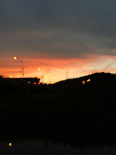 Sunset Sky Orange Color Cloud - Sky Outdoors