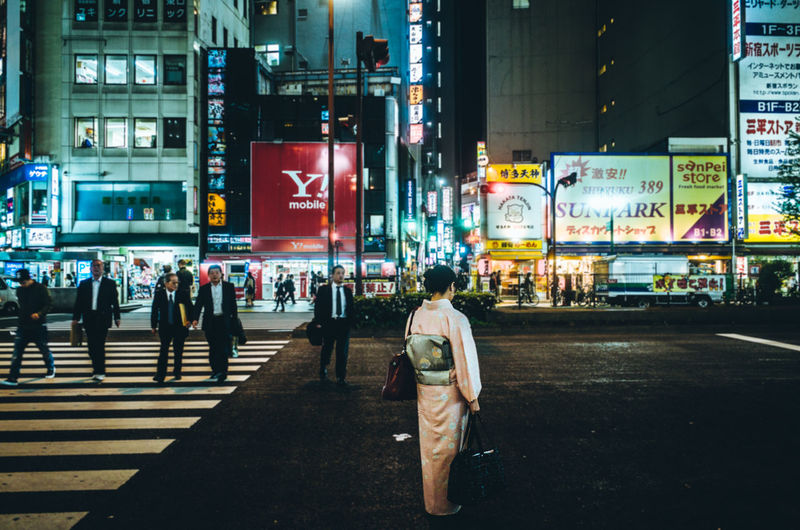 Japan Lovers ◀️🌃🇯🇵 Outsider In Story Photography Stand Out From The Crowd The Human Condition Atmospheric Mood Capture The Moment Cities At Night EyeEm Best Shots EyeEmBestPics Fresh On Eyeem  Getting Inspired Hello World Japan Lifestyles Light And Shadow Night Night Lights Nostalgia People Shinjuku Street Photography Urban Exploration Women Around The World Women Who Inspire You The Street Photographer - 2017 EyeEm Awards Let's Go. Together.