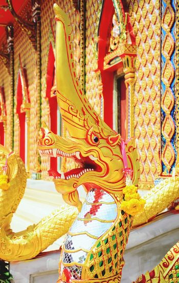 The colorful of the Nagas in the Thai temple Religion Statue Tradition Gold Sculpture Day Worship Amazing Architecture Church Buildings Amazing Thailand Buddhism Amazing Exquisite Temple Place Of Worship Architecture Statue Art And Craft Thailand Travel Thai Temple Travel Colorful Exquisite Beauty Nâgas
