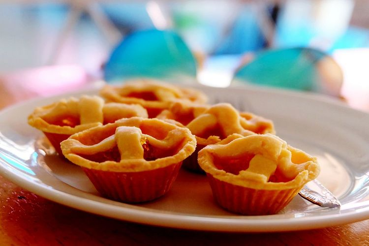 Close-Up Of Pineapple Tarts In Plate