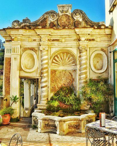 """""""Giardino Terrazza - Garden Terrace"""" - Salerno photobydperry Terrace Photobydperry Salerno Garden Architectural Feature Fountain Architecture Building Exterior Outdoors Entrance Portal Entrance Door Italy"""