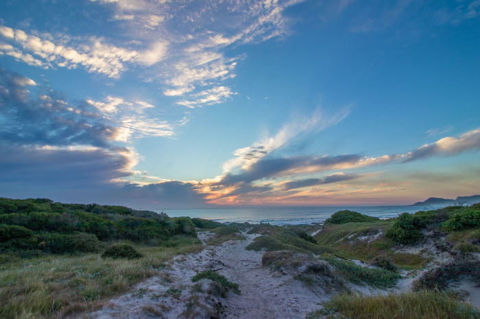 Beauty In Nature Cloud - Sky Day Grass Landscape Nature No People Outdoors Scenics Sea Sky Sunset Tranquil Scene Tranquility Water