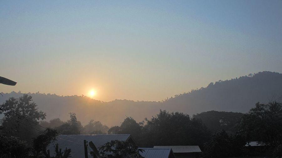 sunrise up on
