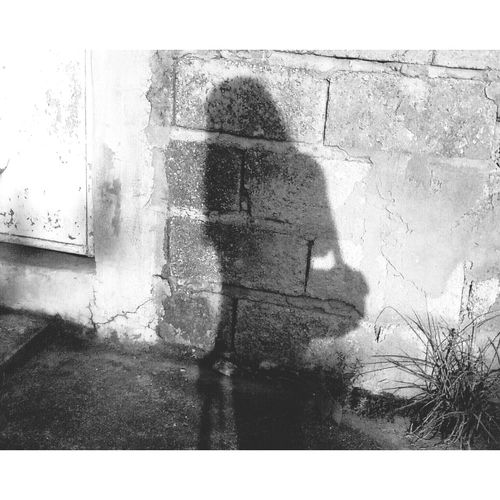Don't be afraid of your own shadow Black And White Photography Light And Shadow Shadow In The Wall Sunny Day