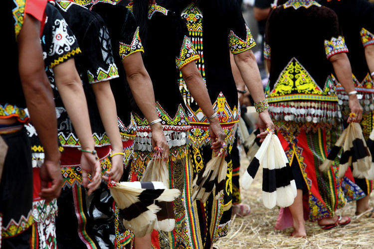 Traditional Clothes Traditional Clothing Celebration Dancing Real People Arts Culture And Entertainment Group Of People Clothing Day Traditional Dancing Focus On Foreground Women People Lifestyles Performance Adult Togetherness Outdoors Festival Borneo Kalimantan INDONESIA