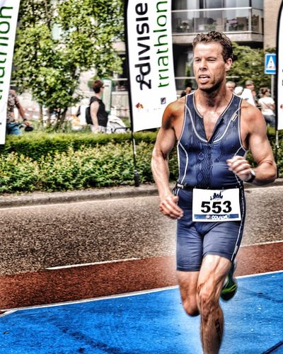 TRIATHLON Sport Athlete Competitor Outdoor Photography Streetphotography TriathlonLife Face Expression Challenge Yourself Running Going The Distance Triathlete Male European Cup
