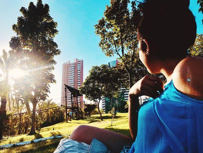 Real People Tree Plant Sky Sunlight Nature Lifestyles