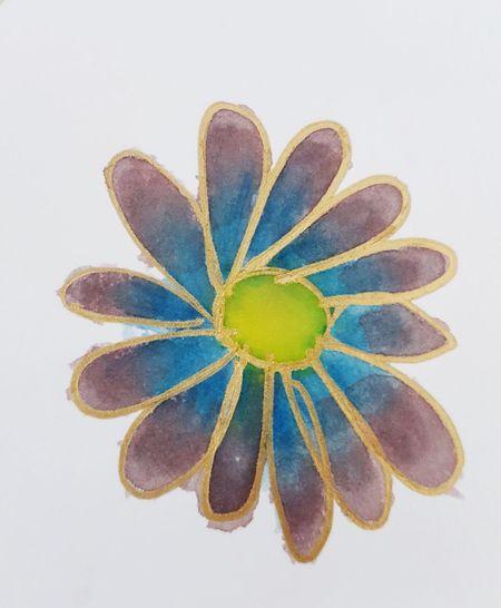 EyeEm Selects Drawing Art Batik BatikArt Batikpaint Batikpainting Colors Flower Painting MetallicGold Goldmarker Goldcolor