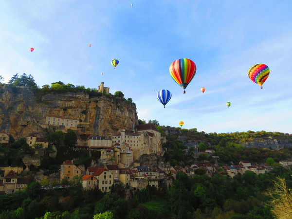 Ballons Landscape Photography Landscape_Collection Rocamadour Sky And Clouds Adventure Architecture Ballooning Festival Balloons Day Flying Hot Air Balloon Landscape Landscape_photography Landscapes Mid-air Mountain Multi Colored No People Outdoors Rocamador Sky Step It Up Go Higher