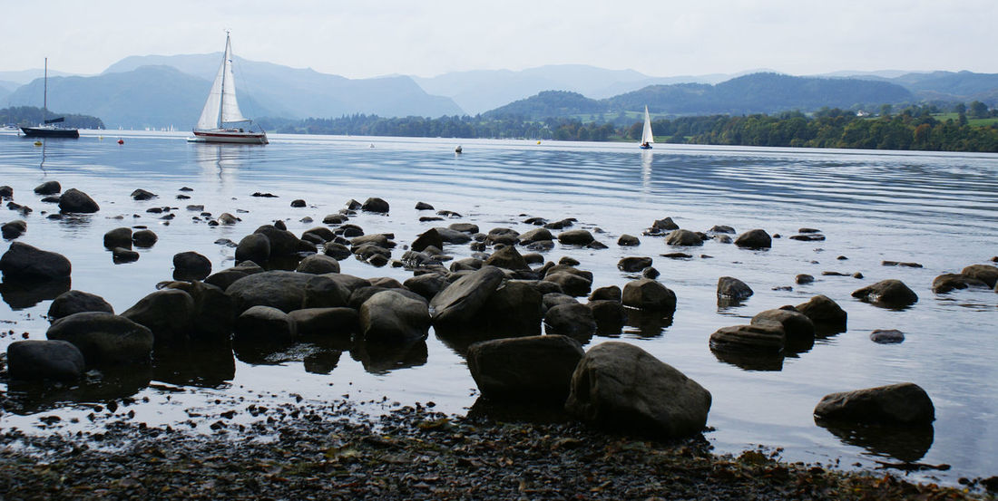 Boat Boats Country Countryside Cumbria Lake Lake District Lakeview Relaxation Relaxation Time Rocks Sailboat Summer Tranquil Scene Tranquility Travel Photography Traveling Ullswater