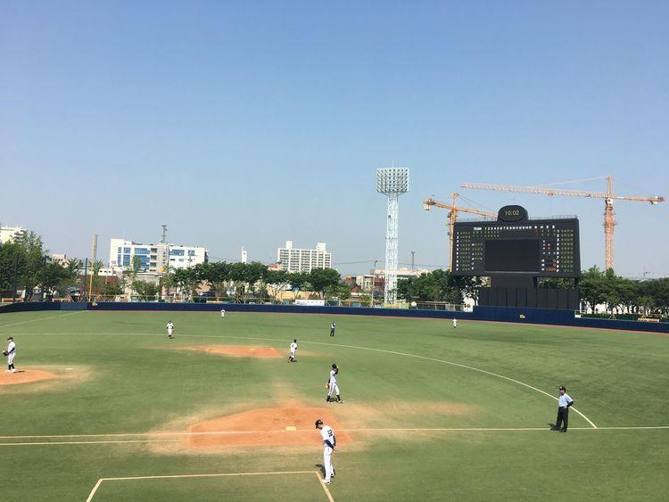 Korea Playground Sports Baseball Baseball Stadium Baseball Stadium Sport Sky Built Structure Nature Architecture Clear Sky Building Exterior