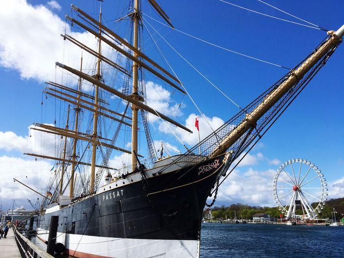 The Passat Four Master Frigate Sailing Ship Sailing Sailboat Ship Architecture Transportation Outdoors Sunlight Water