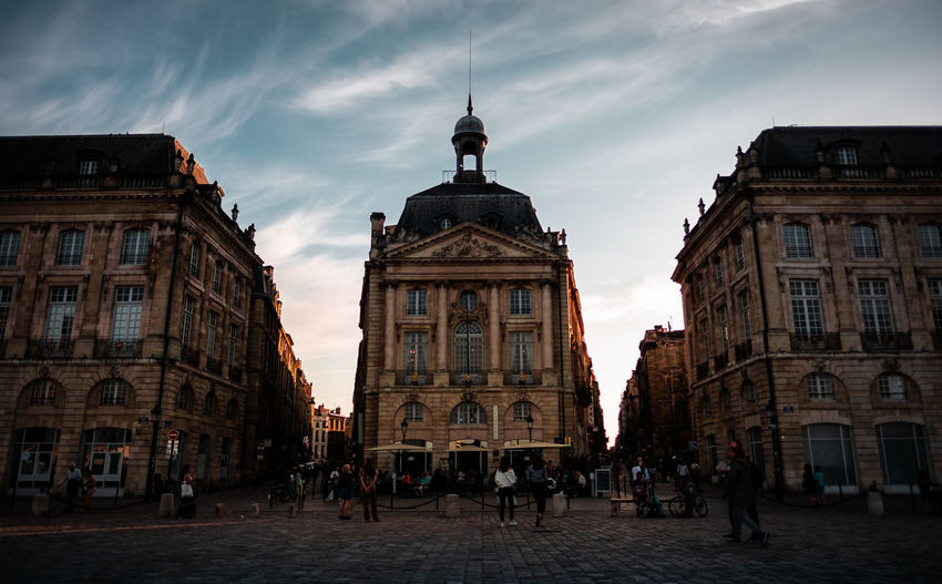 Place de la Bourse in Bordeaux, France. Architecture Bordeaux City Cloudy France Historical Building Travel Travel Photography Architecture Building Built Structure City Fujifilm Fujifilm_xseries Historic History Old Buildings Shadow Sky Street Street Photography Streetphotography Sundown Sunset Travel