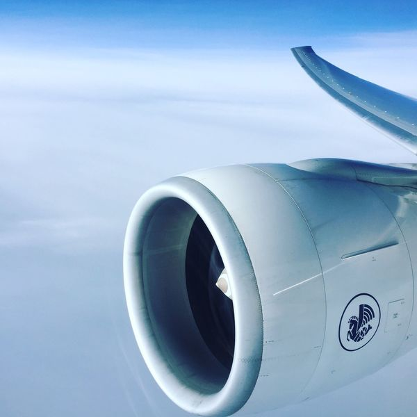 Airplane Air Vehicle Sky Cloud - Sky No People Transportation Day Jet Engine Close-up Outdoors Airplane Wing