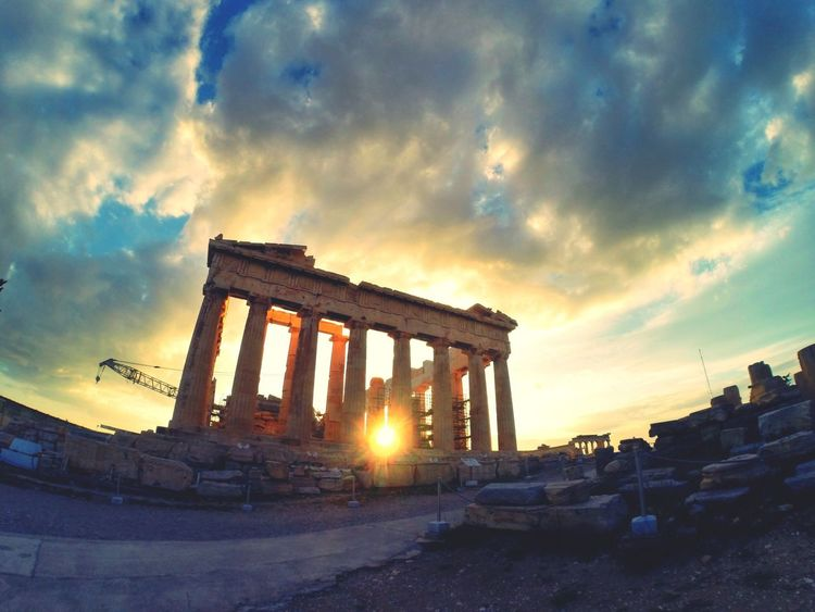 Athens Acropolis Greece Sunset