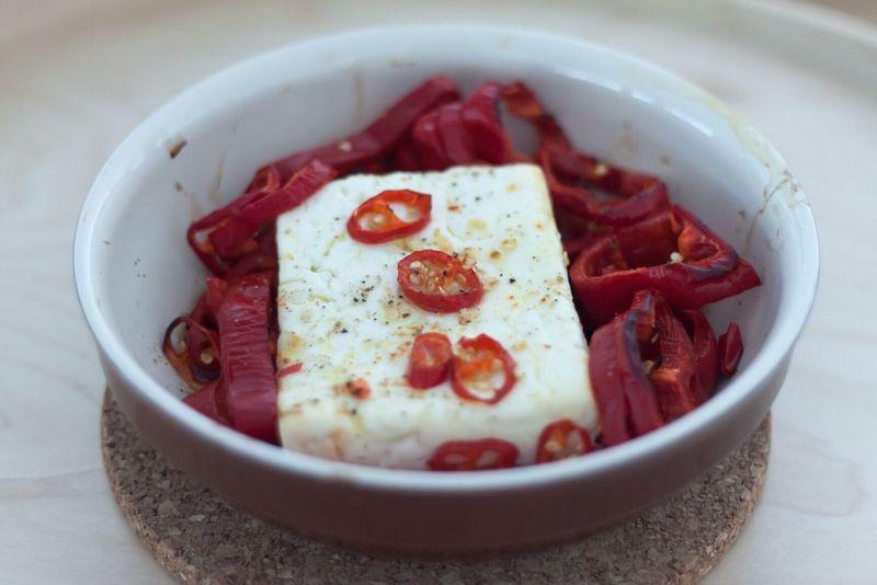 Baked Greek feta Food And Drink Food And Drink Food Bowl Healthy Eating Greektapas Greekcuisine Greek Feta Bakedfeta