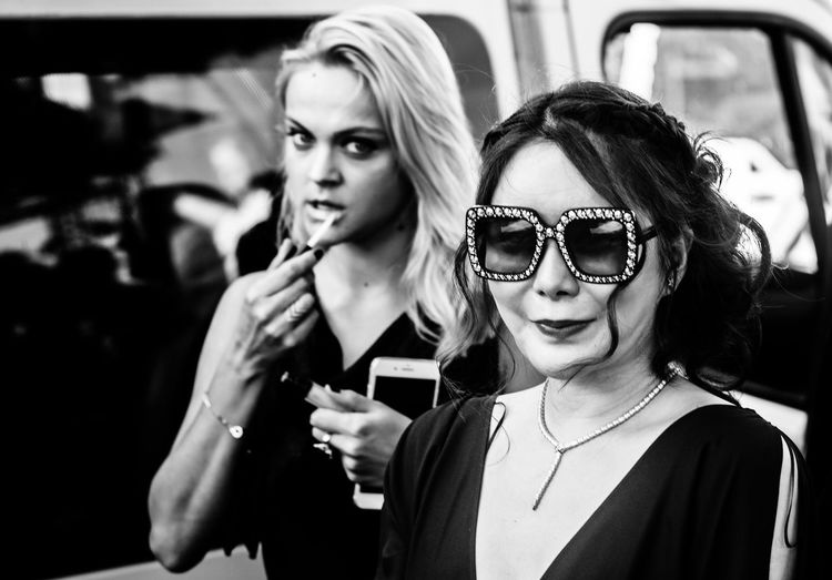 Cannes France Makeup Ornament The Week On EyeEm Vogue Be Or Not To Be Beauty Blackandwhite Blonde Hair Fashion Wear Fashon Jewellery Monochrome Noticeable Sunglasses Wearing Black