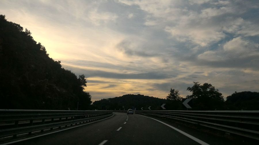 Sunset On The Road Tuscany Italy Countryside Check This Out Sky Cloud Skyporn Landscape Car Gotta Love It Peace Peaceful
