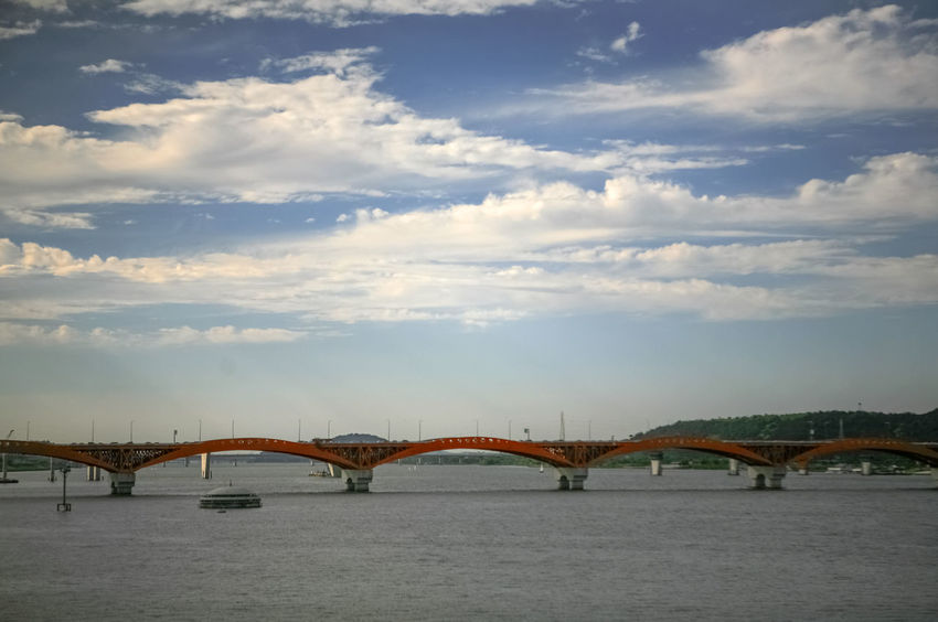 Architecture Bridge Bridge - Man Made Structure Building Exterior Built Structure Cloud Cloud - Sky Connection Day Engineering Han River Hangang Nature No People Outdoors River Scenics Seongsandaegyo Seonyoudo Sky Tranquil Scene Tranquility Water Waterfront