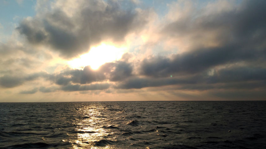 Beauty In Nature Cloud - Sky Horizon Over Water Idyllic Nature No People Outdoors Scenics Sea Sky Sunset Tranquil Scene Tranquility Water