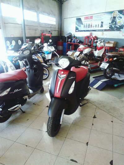 my new motorbike Motorcycle Motorbike Transportation Garage New Motorcycle Yamaha Grand Filano Biker Life Parking Thailand