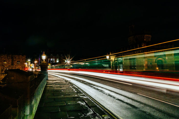 Traffic light trails on a cold winter's evening over Lendal Bridge in York. Light Trails Blurred Motion Bridge Bridge - Man Made Structure City Colour Colour Of Life High Street Illuminated Light Trace Light Traces Light Trail Light Trail Photography Long Exposure Medieval Motion Night No People Outdoors Speed Traffic Motion Night Long Exposure Traffuc Transportation Young Adult