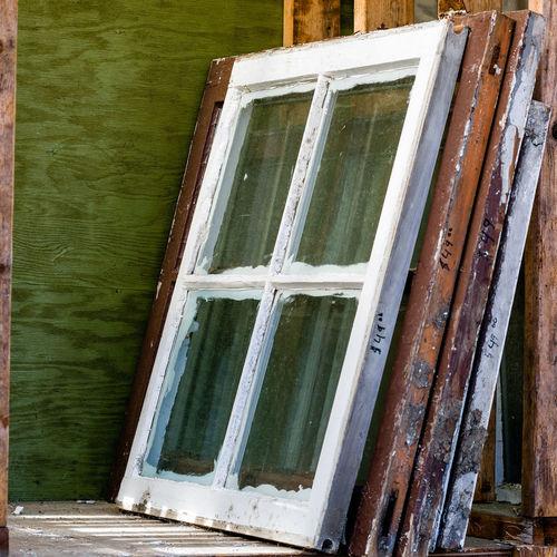 Entrance of abandoned building