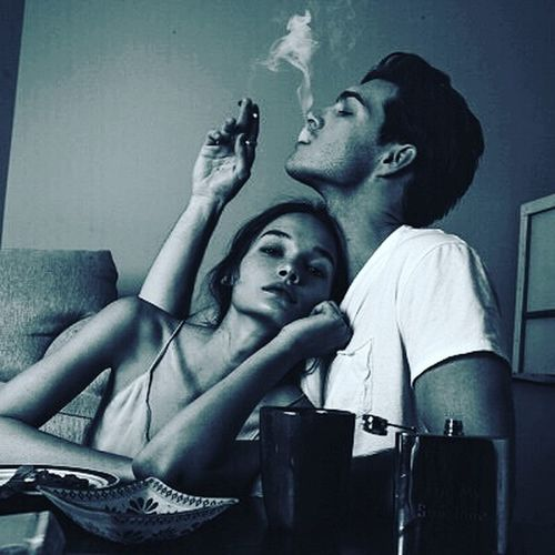 Blackandwhite Love Smoke Badboy Goodgirl