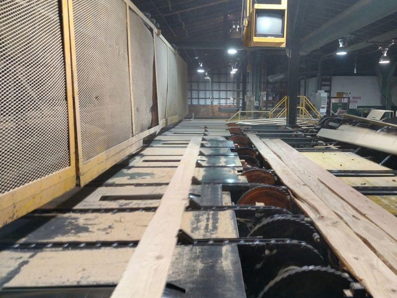 Lumber Mill Indoors  Close-up Washington State Workplace Night Sawmill me
