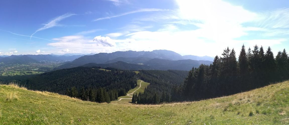 Germany Grass No People Mountain Range Nature Landscape Mountain Outdoors Cloud - Sky Forest Panorama