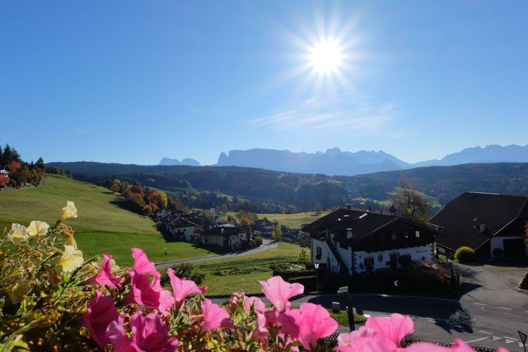 Auna Di Sopra, Italy Architecture Beauty In Nature Building Exterior Built Structure Clear Sky Day Flower Freshness Growth Landscape Lens Flare Mountain Nature No People Outdoors Scenics Sky Sun Sunbeam Sunlight Tranquil Scene Tranquility Water