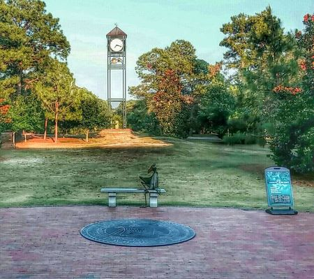 Clock Sky Uncw Architecture Clock Tower