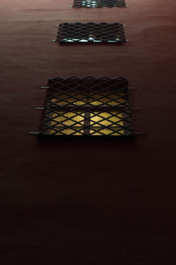 Gold Grid Light Shine Wall Day Exterior Design Indoors  No People Shaddow Shaft Table Warm Window Wood - Material