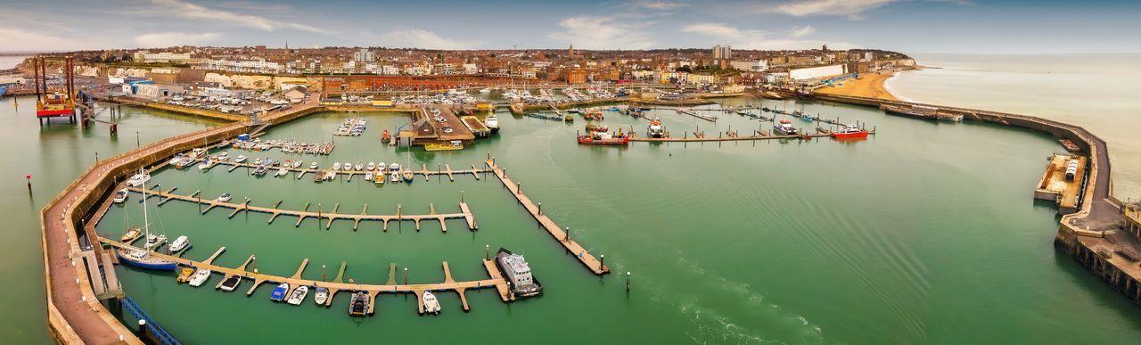Royal marina, aerial panoramic view