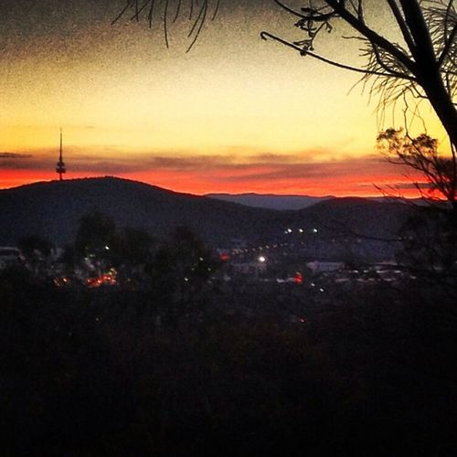 Evening skies in Canberra are breathtaking!