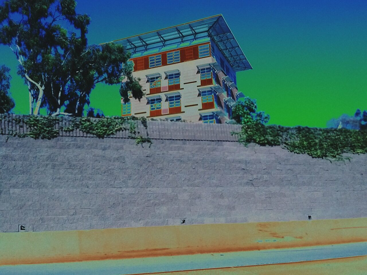 architecture, building exterior, built structure, tree, day, outdoors, no people, low angle view, sky, clear sky, nature