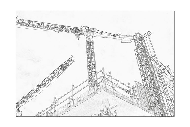 Construction Cranes 3 Machine Hoist Potain Cranes 17.62° Latticed Boom Jib Port Of Oakland,Ca. Jack London Square Heavy Equipment Transport Materials Tower Crane Industry Manitowoc Co. Bigge Self-erectting Top-slewing Monochrome Lovers Monochrome Sketch Abstract Find Edges Effect Abstract Photography Black & White Black & White Photography Black And White Black And White Collection  Buiilding Under Construction Construction Equipment Sketch Pad Pixelated Drawing - Art Product