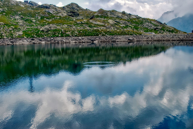 Lake Alpine Alpine Landscape Water Reflection Beauty In Nature Tranquility Tranquil Scene Scenics - Nature Lake Mountain Waterfront Sky Cloud - Sky No People Day Nature Idyllic Non-urban Scene Mountain Range Outdoors Remote Reflection Lake Margone Travel Travel Destinations Landscape Landscape_photography