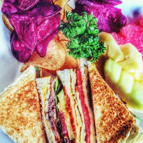 Lunch Club Sandwich Taking Photos Jakarta