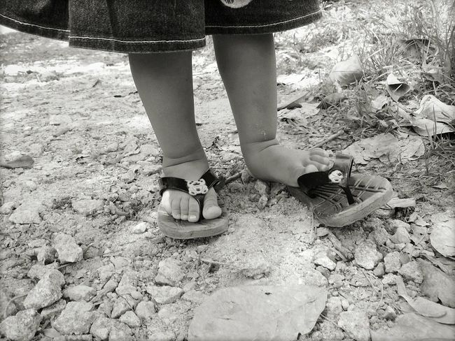Kid New Beginnings Find Me On Path Begining Barefoot Blackandwhite Photography B&W Collection Exploring New Ground