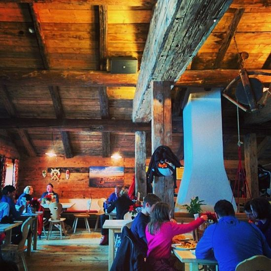Lunch Time Skiing Lech austria