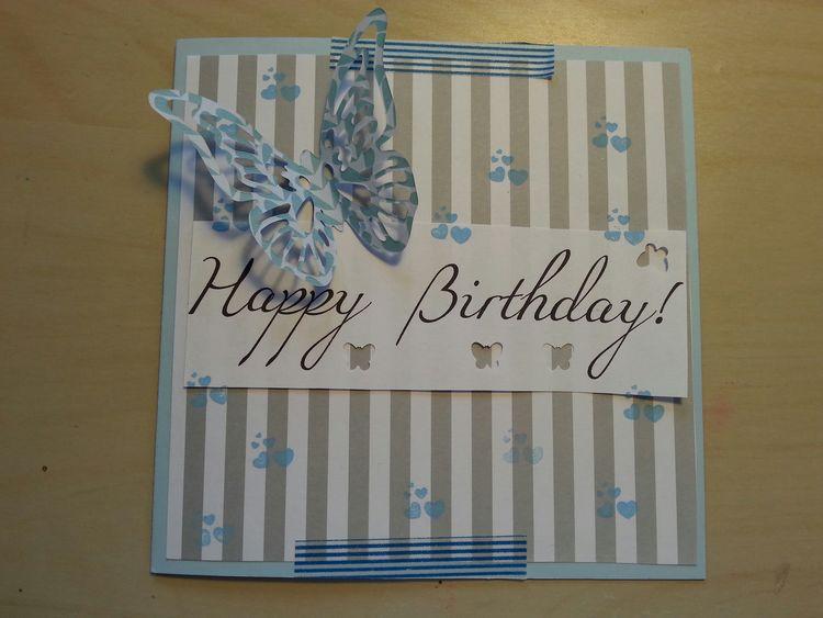 Geburtstagskarte für ne Freundin/birthday card for a friend... selbstgebastelte Geburtstagskarte Daily Life Of A Lake's Kid
