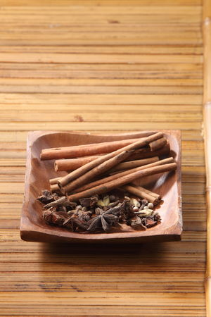 Peppercorns Alternative Medicine Anise Asian Food Assortment Bamboo Background Cinnamon Close-up Clove Dried Food Food Food And Drink Freshness Healthy Eating Herbal Medicine Indoors  Ingredient No People Pepper Studio Shot Variation Wellbeing Wood - Material Wooden Bowl