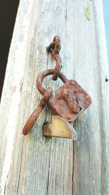Lock Wood - Material Locker Nature Metal Close-up No People Nature Eye Em Nature Lover EyeEm Nature Lover Outdoors WoodArt Wood Slot Roestig Roest Slot
