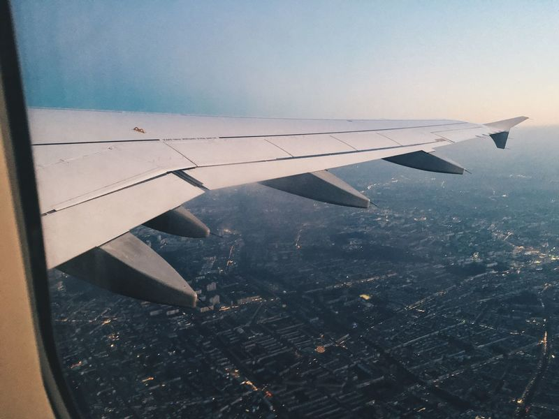 Plane Wing Wingview Flying Airbus Airbus A319 Eurowings Berlin TakeOff Aviation