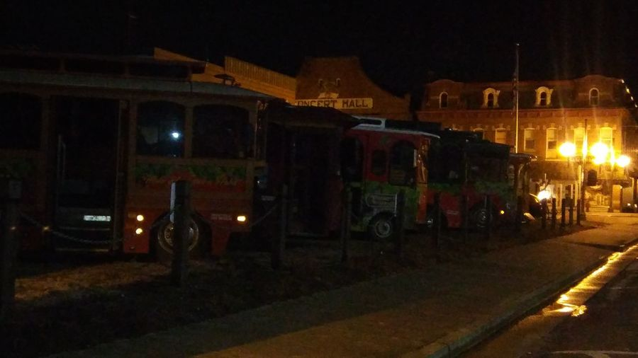 nighttime walk Trolley Cars Trolly Bus Trolly Rides Siteseeing Nightwalk Night Time Quiet Evening Emptystreets City Illuminated Architecture Sky Built Structure Building Exterior Street Light Vehicle Traffic Light  Road Marking Lamp Post Land Vehicle Parking City Street Empty Road Vehicle Light