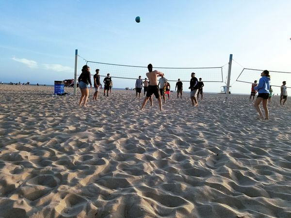 Just Some Good Times With Some Old Friends 😊😎 Huntington Beach Volleyball Oldfriends Beachdays Outdoors Sky Creativity