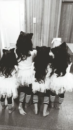 Kids Girl Festival Friends Happyhalloween Cats Costume Helloween Helloween Party 6歳 4歳 幼稚園